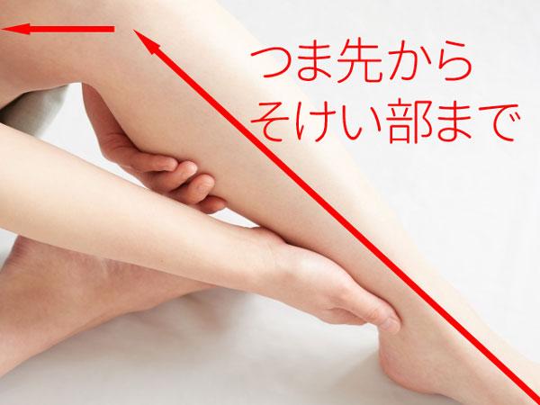 足のむくみ マッサージ方法